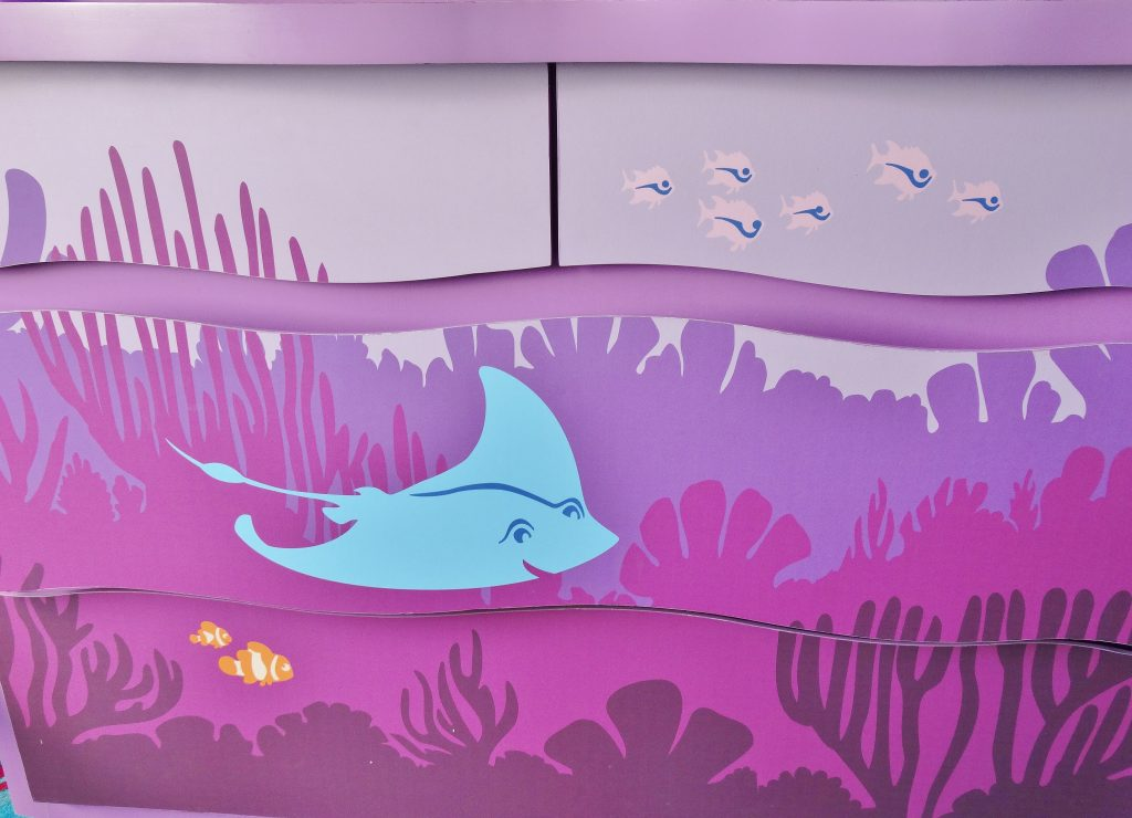Cabinet in the nemo suite at Art of Animation.