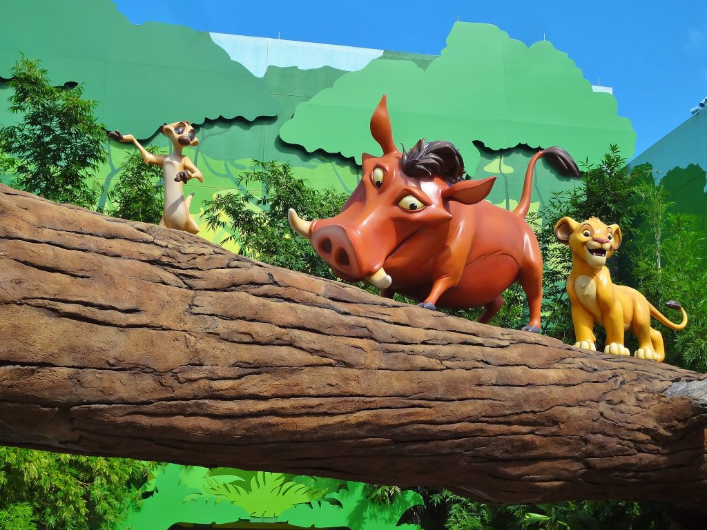 Lion King decorations at Art of Animation.