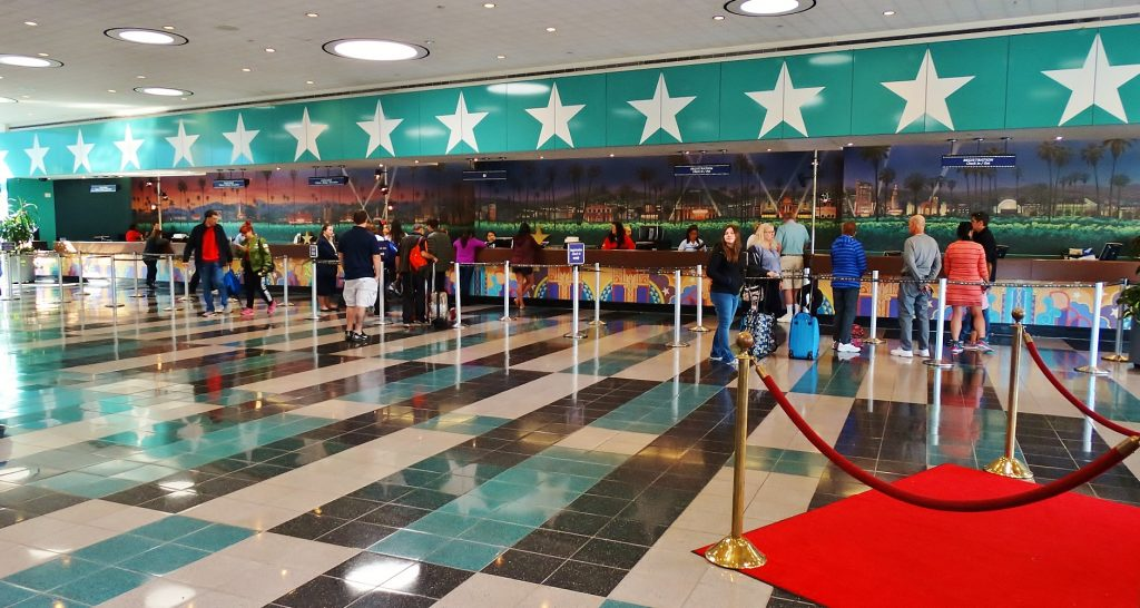 All-Star Movies lobby and check-in.