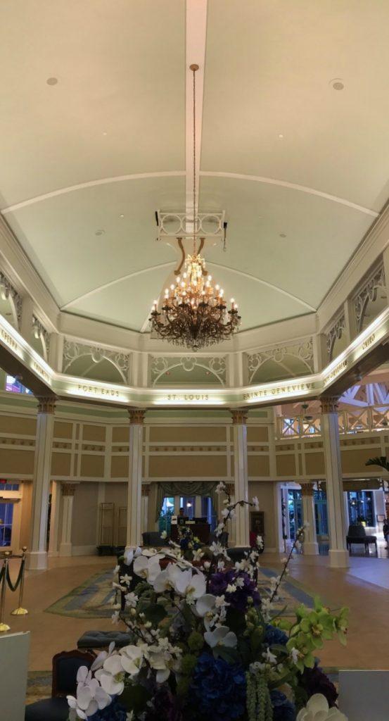 The lobby of Port Orleans Riverside Resort.