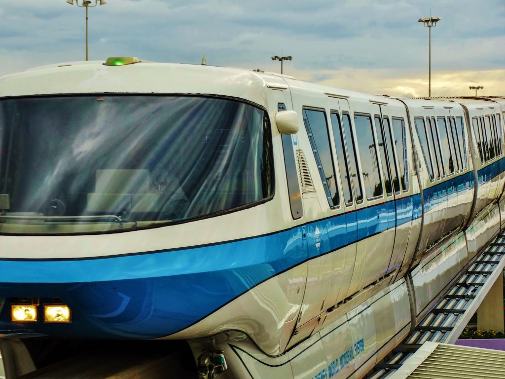 Monorail Blue, as it travels throughout Disney.